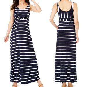 Rosie Pope Kendall Stripe Maternity Maxi Dress S